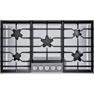 Thermador36-Inch Masterpiece® Pedestal Star® Burner Gas Cooktop, ExtraLow® Select