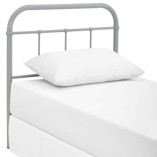Serena Twin Steel Headboard in Gray
