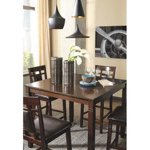Bennox Counter Height Dining Room Table and Bar Stools (set of 5)