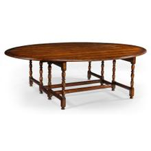 Oval Walnut Gateleg Table (Large)