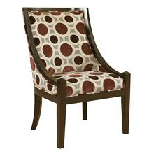 "Mulberry & Grey High Back Accent Chair, 20-1/2"" Seat Height"