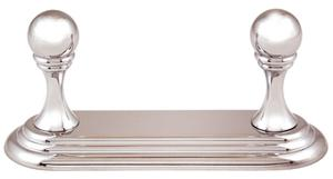 Embassy Double Robe Hook A9086 - Unlacquered Brass Product Image