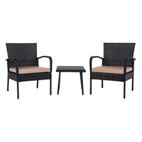 Moore 3 PC Lounge Set - Black / Beige