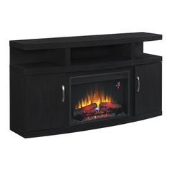 """Cantilever TV Stand for TVs up to 65"""", Embossing Oak (Electric Fireplace Insert sold separately)"""