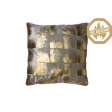 "66804585FR - SHADOW Pillow Gold Metallic+White, Polyester Fill, 20""x20"""