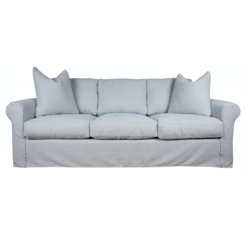 Queen Sleeper Slipcover Sofa, Luxury Depth