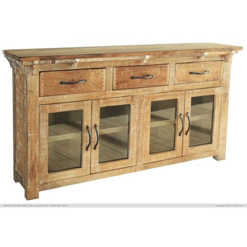 Artisan Home Furniture - Console w/ 3 Drawer & 4 Glass Door