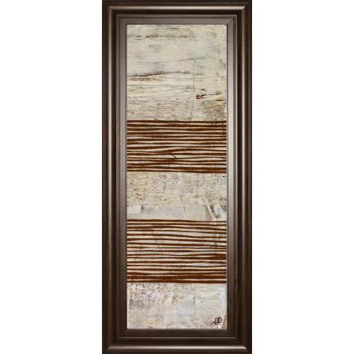 "Classy Art - ""White Stripes Il"" By Natalie Avondet Framed Print Wall Art"