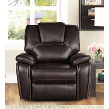 8085 DARK BROWN Manual Recliner Air Leather Recliner