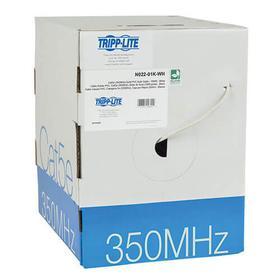 Cat5e 350 MHz Bulk UTP Solid-Core PVC Cable, White, 1000 ft. TAA