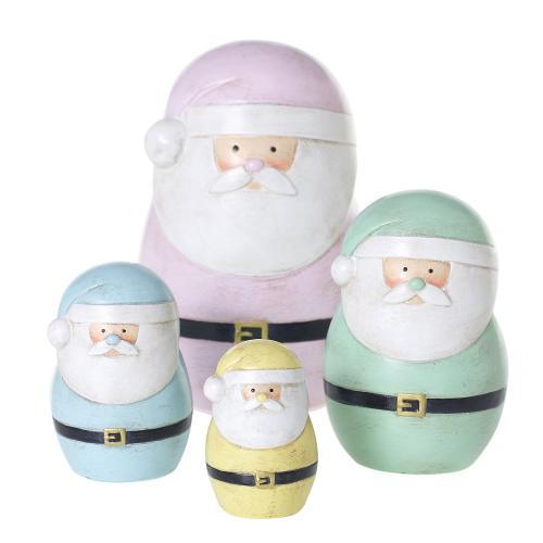 "6.5""/4.5""/3.5""/2.5""H Pastel Santa"