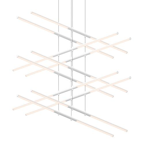 Sonneman - A Way of Light - Tik-Tak® LED Pendant [Size=Stack 5-Tier, Color/Finish=Satin White]
