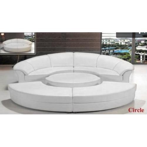 Divani Casa Circle - Modern Leather Circular Sectional 5-Piece Sofa Set