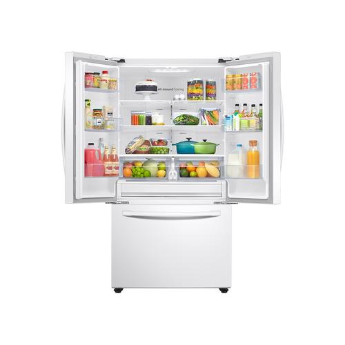 28 cu. ft. Large Capacity 3-Door French Door Refrigerator in White