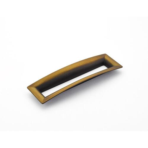 Finestrino, Pull, Flared Rectangle, Burnished Bronze, 160 mm cc