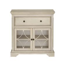 Cream kd two door one drawer console