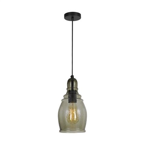 Cal Lighting & Accessories - 60W Accera RippLED Glass Pendant (Edison Bulb Not included)