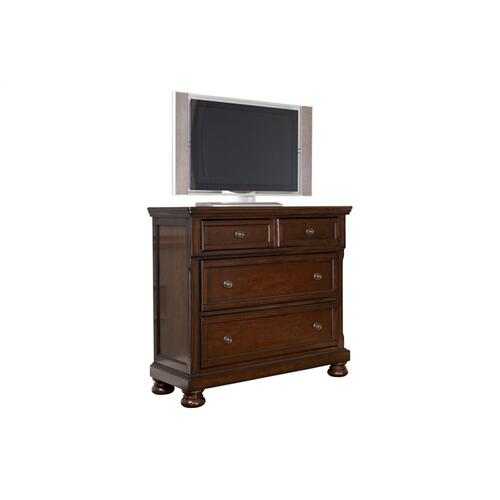 Porter Media Chest Rustic Brown