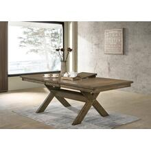 Raven Wood Cross-buck Base Dining Table with Butterfly Leaf