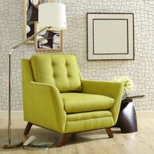 Beguile Upholstered Fabric Armchair in Wheatgrass