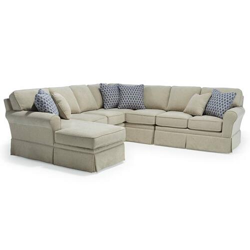 Annabel Modular Sectional (Sock Arm with Skirt)