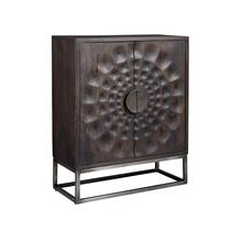Circle Carved Door Cabinet
