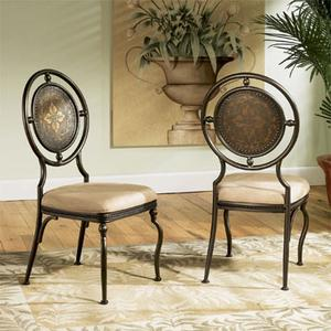 "Basil ""Antique Brown"" Dining Side Chair, 18"" Seat Height - 2 pcs in 1 carton"