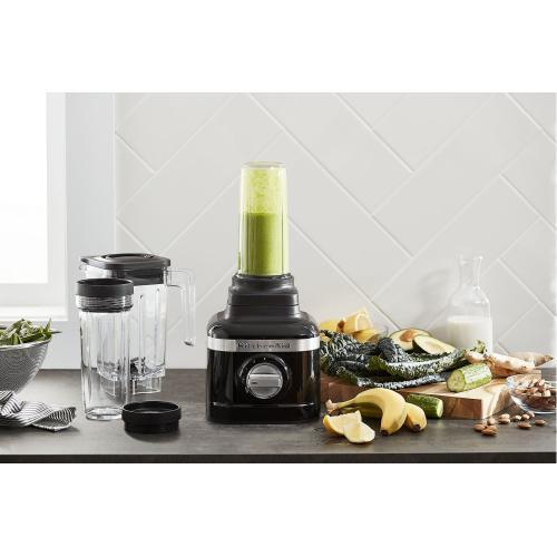 KitchenAid - K150 3 Speed Ice Crushing Blender with 2 Personal Blender Jars - Onyx Black