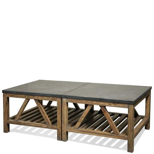 Weatherford - Bunching Coffee Table Base - Bluestone Finish