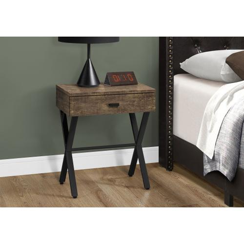 """Gallery - ACCENT TABLE - 24""""H / BROWN RECLAIMED WOOD / BLACK METAL"""