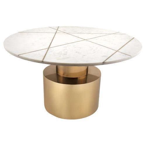 Tov Furniture - Terzo White Marble Coffee Table