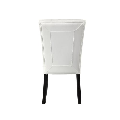 "Markina White PU Side Chair [1/2""MemoryFoam]"