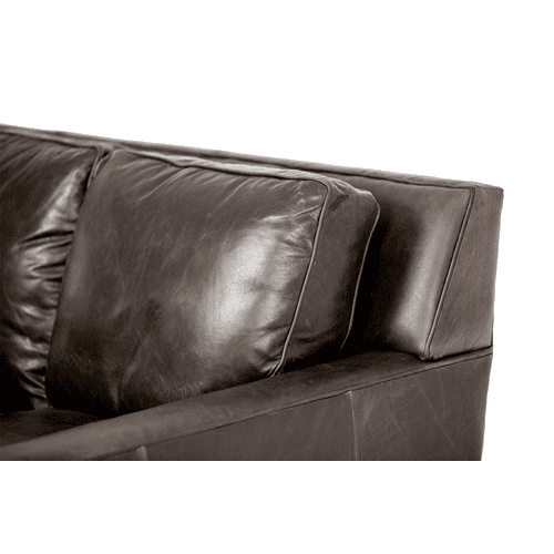 Oxford Leather StandardSofa in Grey_Espresso Espresso