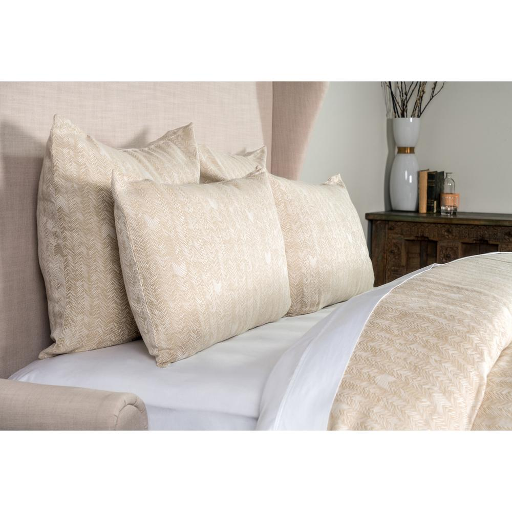See Details - French Herringbone Natural Queen Duvet 92x90