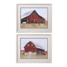 2 Pc Rustic Red Barn