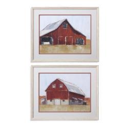 2 Pc Rustic Red Barn