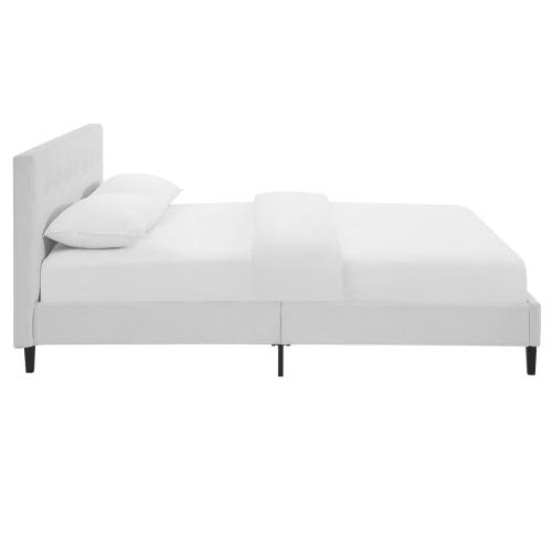 Modway - Linnea Queen Faux Leather Bed in White