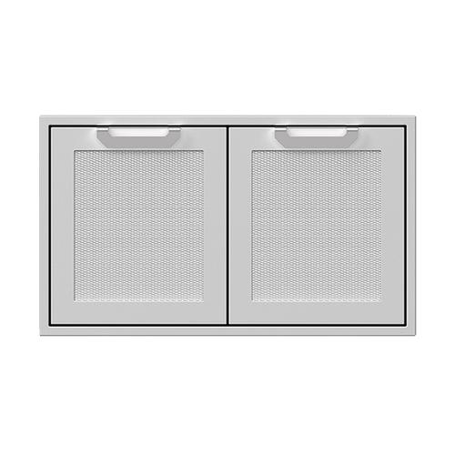 """Hestan - 36"""" Hestan Outdoor Double Storage Doors - AGSD Series - Pacific-fog"""