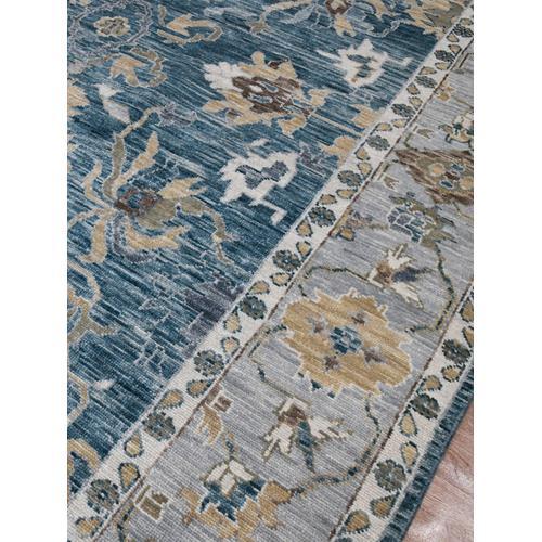 Amer Rugs - Blu BLU-53 Peacock-Light Gray