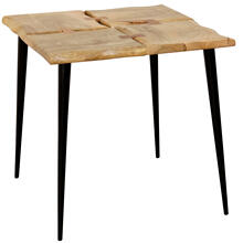 LIVE EDGE ACACIA  22ht X 22w X 22d  Side Table Made of Four Live Edge Natural Finished Solid Acaci