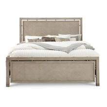 Sutton Place Queen Footboard and Slats in Oak Grey