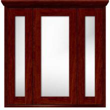 Contemporary tri-view medicine cabinet