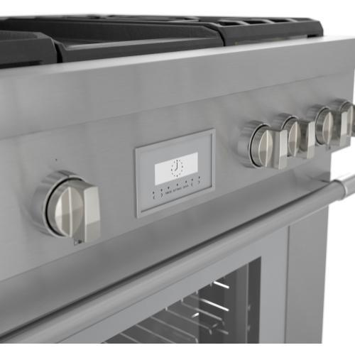 Thermador - Dual Fuel Professional Range 36'' Pro Harmony® Standard Depth Stainless Steel PRD364WDHU
