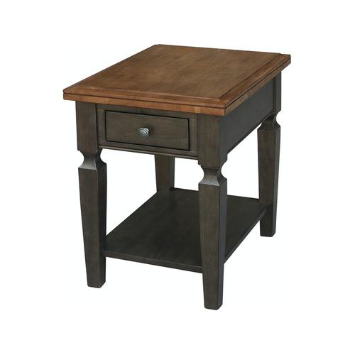End Table in Hickory & Coal