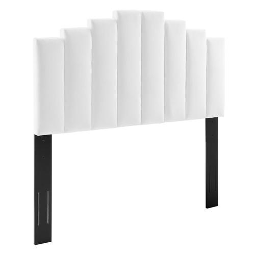 Noelle Performance Velvet Full/Queen Headboard in White