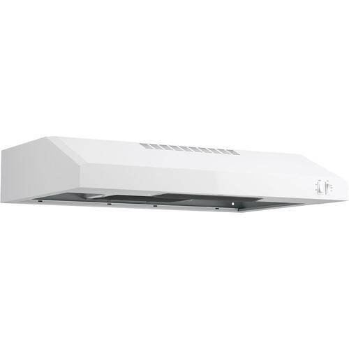 """GE 30"""" 2 Speed Under the Cabinet Vent Hood White JVX3300DWWC"""