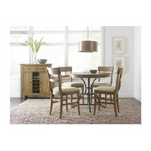 """View Product - 44"""" Round Counter Height Table With Metal Base"""