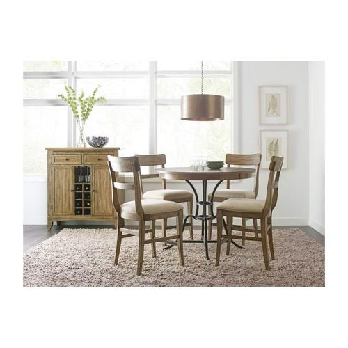 """Gallery - 44"""" Round Counter Height Table With Metal Base"""