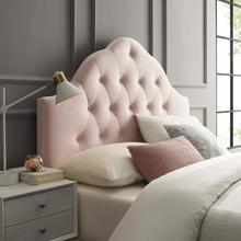 View Product - Sovereign Queen Diamond Tufted Performance Velvet Headboard in Pink