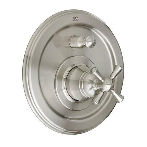 Dxv - Randall Pressure Balanced Tub/Shower Valve Trim with Cross Handle - Brushed Nickel